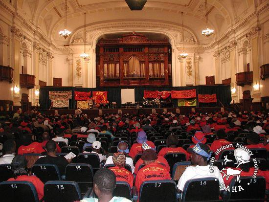 APF May Day event at City Hall, Johannesburg, 2003