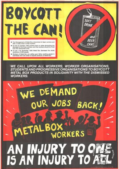 BOYCOTT THE CAN! (AL2446_0207) http://saha.org.za/imagesofdefinace/boycott_the_can.htm