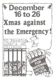 December 16 to 26 ; Xmas against the Emergency! AL2446_0162 -  produced by the UDF for the Campaign for National United Action, Johannesburg. This post