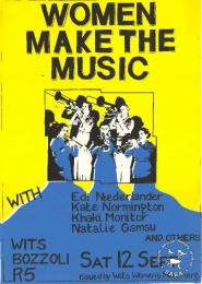 WOMEN MAKE THE MUSIC AL2446_0966  produced by the WWM, Johannesburg. This poster focused on women's issues.