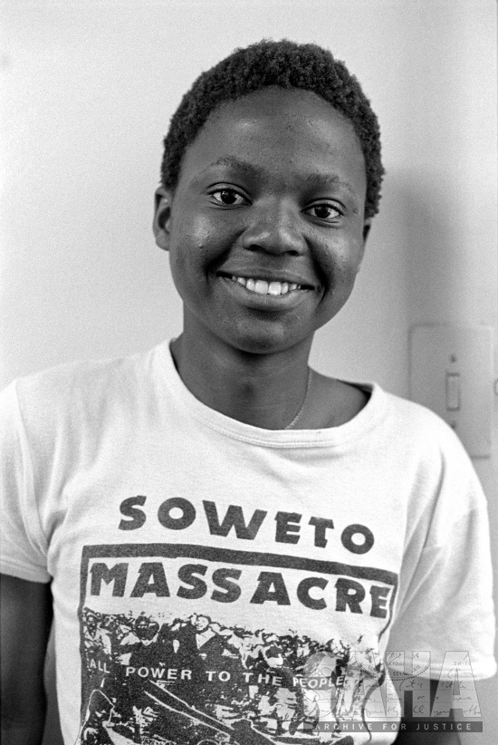 AL3274_D32 The Gille de Vlieg Photographic Collection D32 Sicelo Dlomo,SOSCO activist, detained and beaten by police, killed in Jan 1988 by John Itumelend Dube, MK Special Operation, Johannesburg, Gauteng, 1986-11-10.