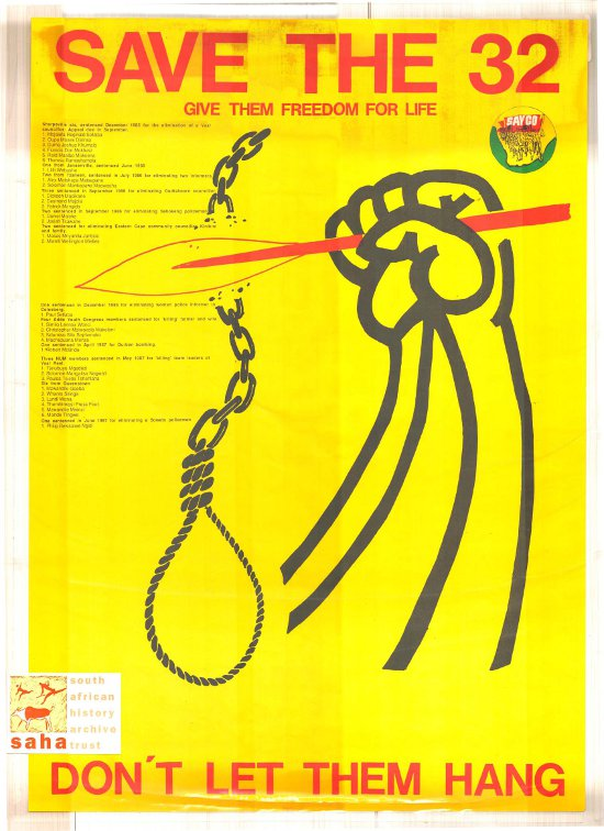 offset litho poster, SAYCO, 1988. Archived as SAHA collection AL2446_0142