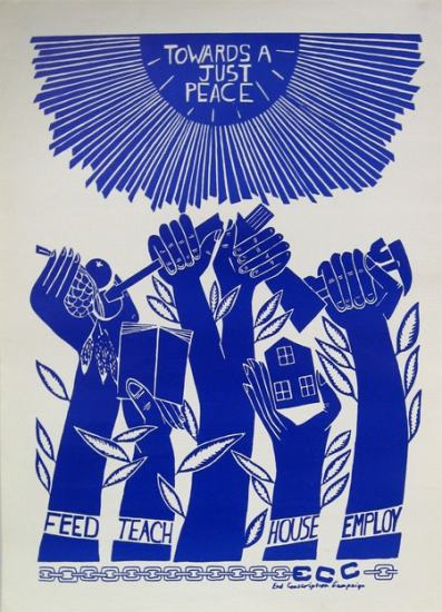 Poster promoting the requirements  of a just peace, SAHA Poster  Collection, AL2446_04310a