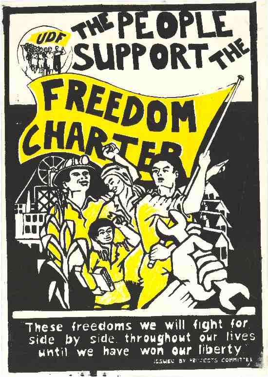 Freedom Charter Poster issued by the Projects Committee, AL2446_0958