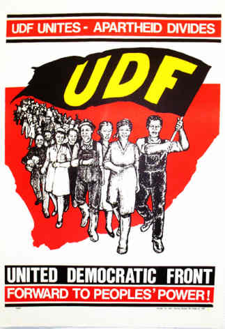 Poster advertising UDF rally in Cape Town, SAHA Poster Collection, AL2446_2314