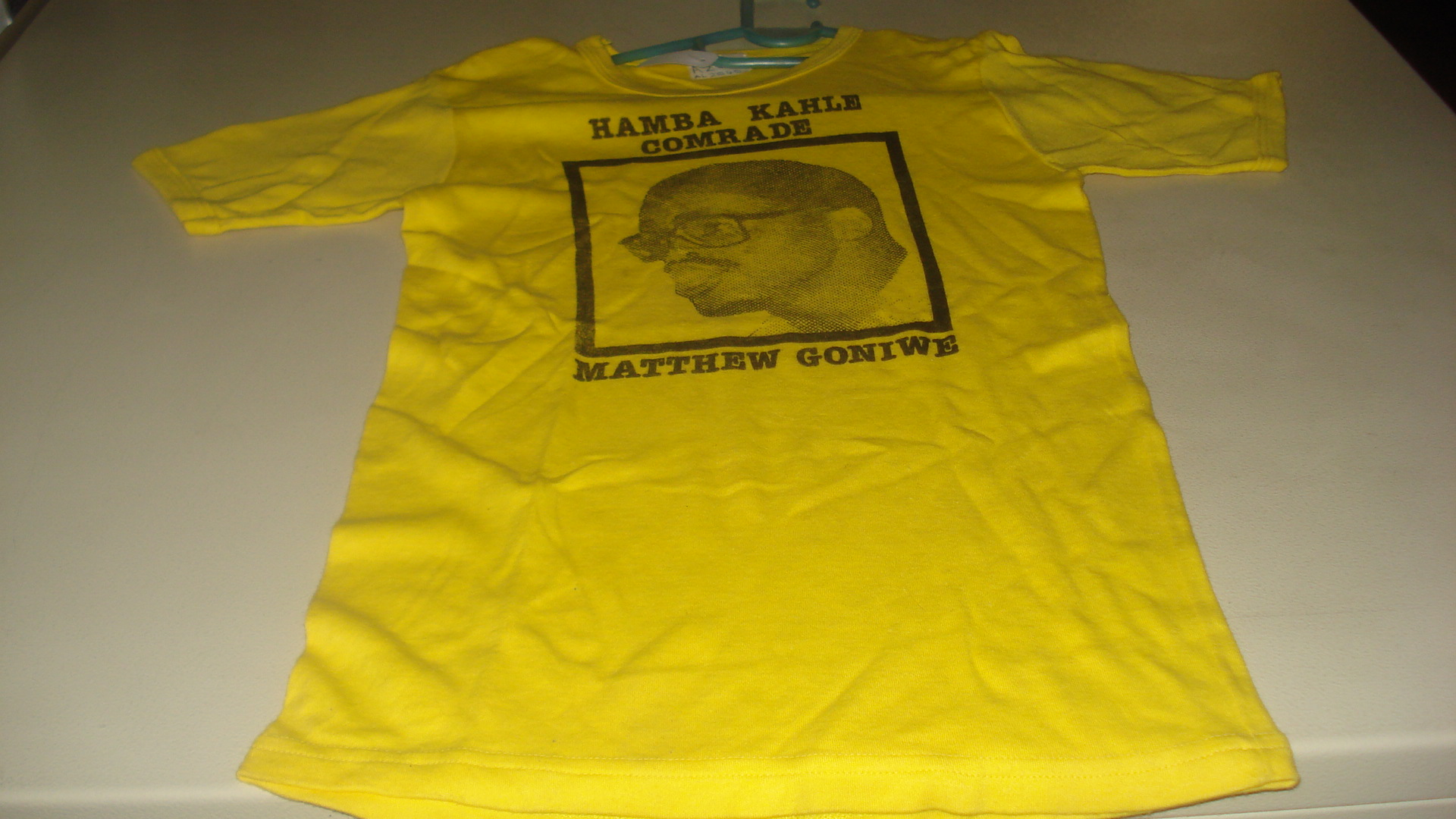 Hamba Kahle Comrade: Matthew Goniwe, T-shirt, SAHA Ephemera Collection, AL2540_A286
