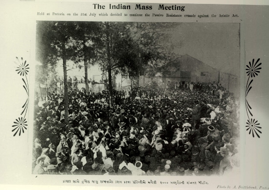 The Indian Mass Meeting regarding passive resistance. Photographer: A. Brittlebank. Archived as AL2686_1q