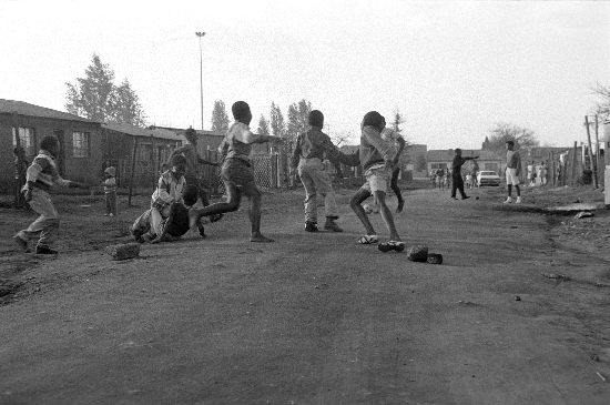 Children playing township soccer, AL3274_F27.2, Gille de Vlieg Collection