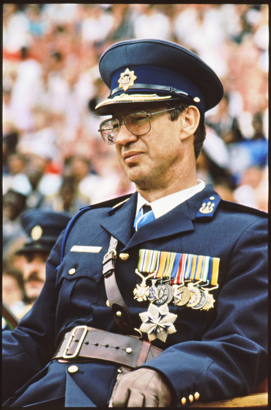 Former police commissioner General Johann van der Merwe. Archived as SAHA collection AL3283_C07_01_08