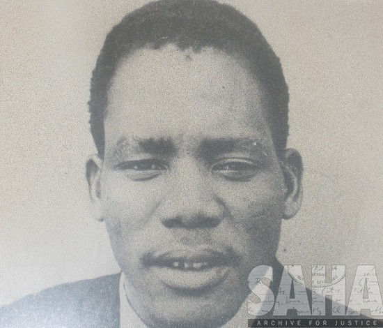 Reverend Mapheto as a young man. Photographer and date unknown. Archived as SAHA collection AL3288_D2.2.53