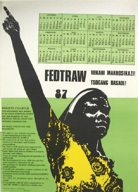 Federation of Transvaal Women 1987 Calender