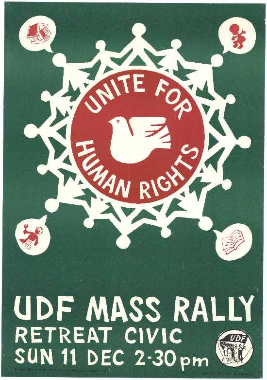 UDF Rally Poster, SAHA Poster Collection, AL2466_1149
