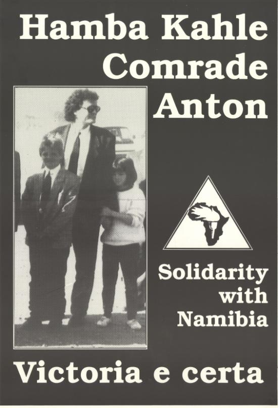 Hamba Kahle Comrade Lubowski, SAHA Poster Collection, AL2446_1275