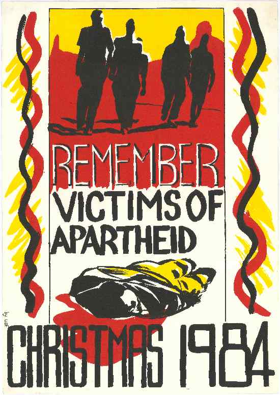 'Black Christmas: Remember Victims of Apartheid', SAHA Poster Collection, AL2446_1505