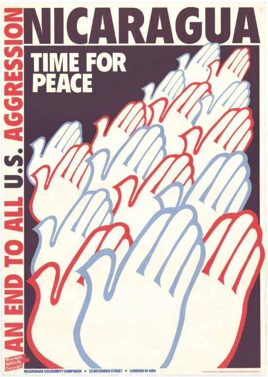 Poster issued by the Nicaragua Solidarity Campaign in London, SAHA Poster Collection, AL2446_1848