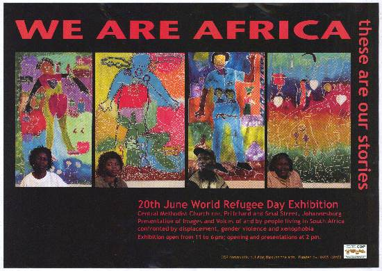 CDP Exhibition Poster, featuring SAHA staff member Elizabeth Marima, SAHA Poster Collection, AL2446_4629