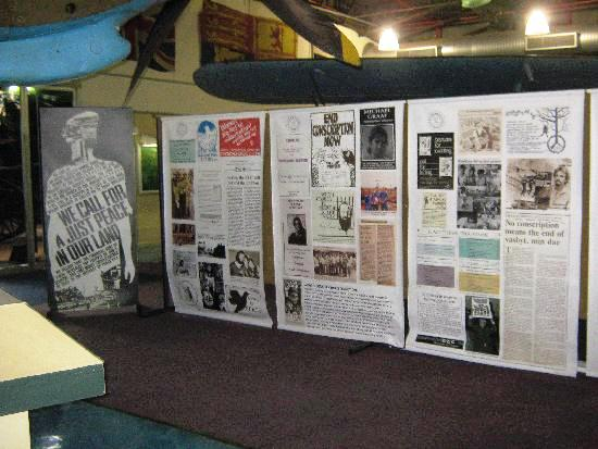 Original posters and banners related to the ECC displayed at the Ditsonong National Museum of Military History, July-August, 2010