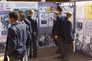 St Stithians youth viewing the Future is Ours youth exhibition