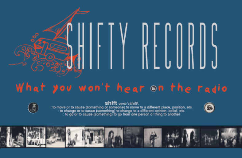 Shifty Records exhibition banner