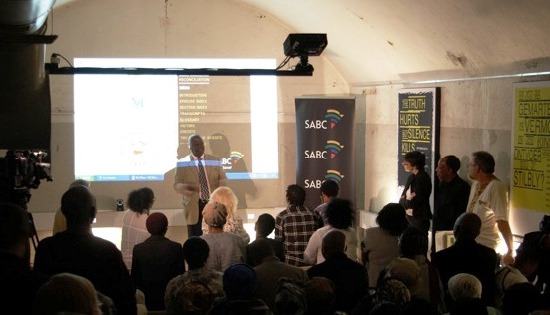 Phillip Molefe, SABC Group Executive: News and Current Affairs, spoke on behalf of the public broadcaster, which supported the development of the product, Constitution Hill, 9 December, 2010
