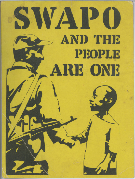 'SWAPO and the people are one' postcard. Archived as SAHA collection AL2460_U07.04