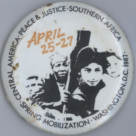 Badge, 1987. Archived as SAHA collection AL2540_C192