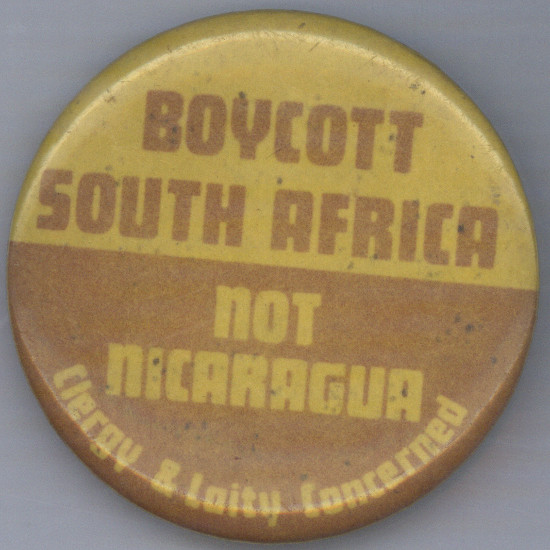 Badge, 1986. Archived as SAHA collection AL2540_C193