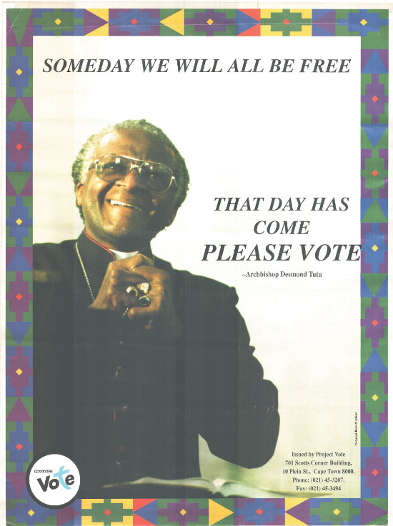 Offset litho, produced by project vote, date 1994.Archived as SAHA collection AL2446_0019