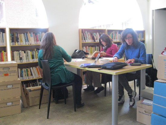 Researchers consulting SAHA archival collections, 2014