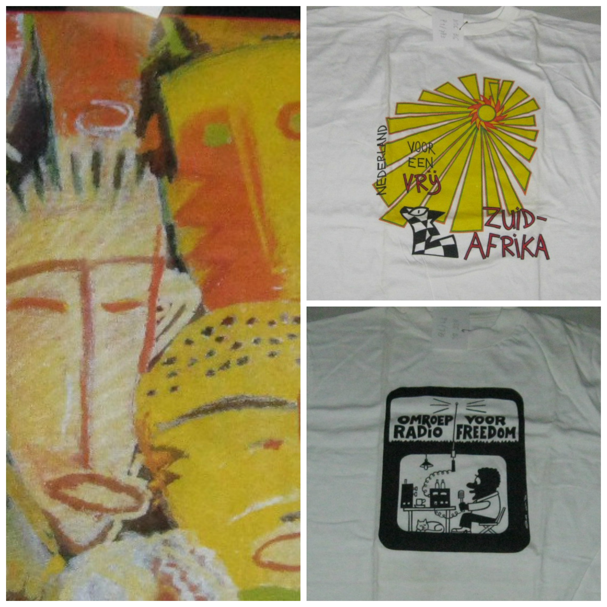 Collage of t-shirts from the IISH collection