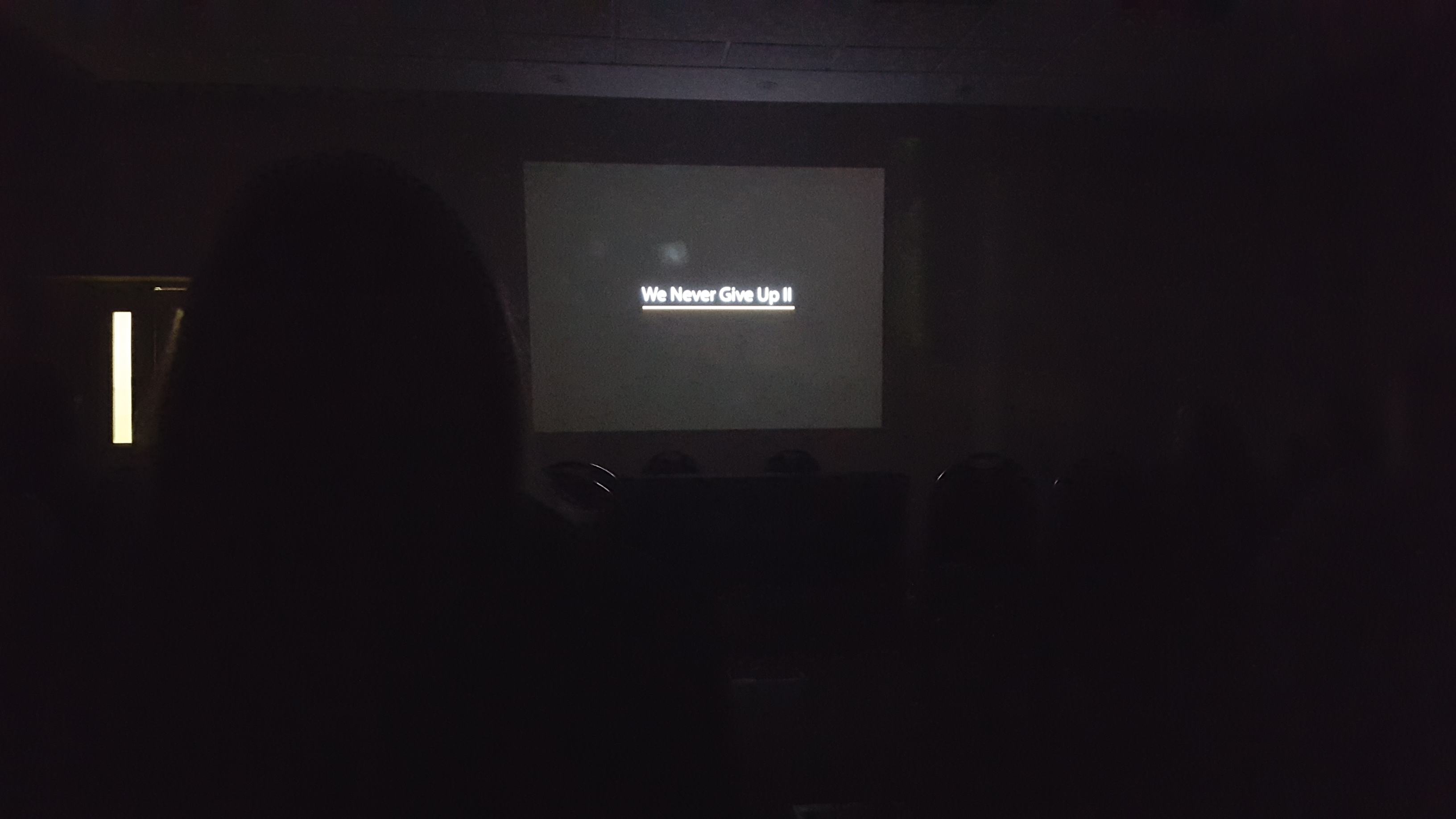 We Never Give Up II Screening