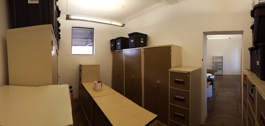 The main office store room after the reshuffle