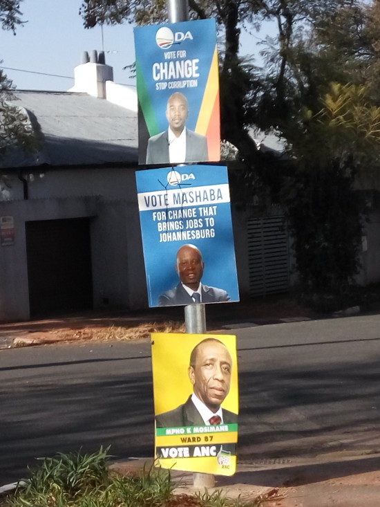 Posters for the 2016 Local Government elections in Melville