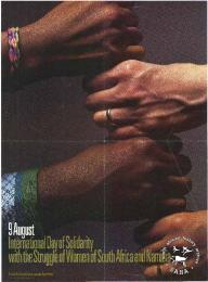 Offset litho poster, issued by the United Nations Centre Against Apartheid. Archived as SAHA collection AL2446_0641