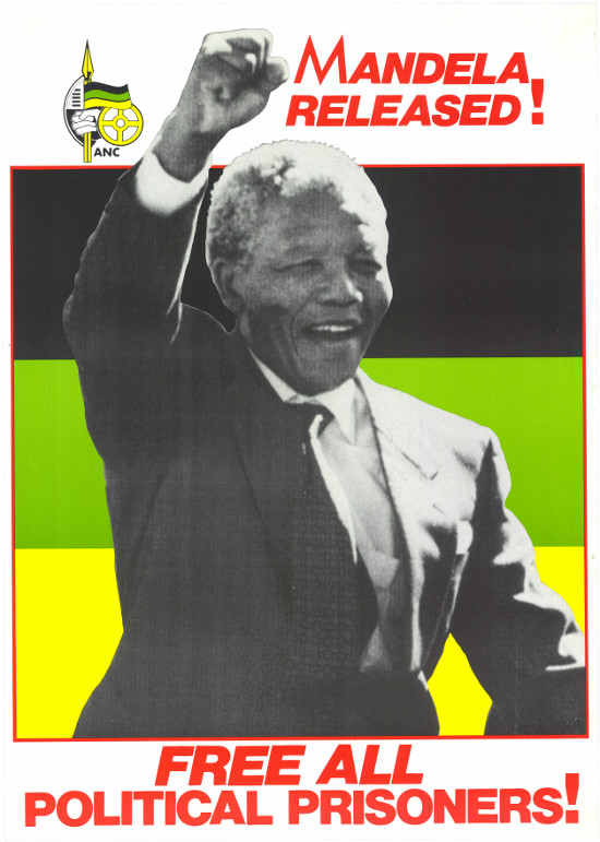 Offset litho poster, issued by the African National Congress, 1990. Archived as SAHA collection AL2446_0801