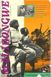 Offset litho poster, issued by Stichting Malibongwe, January 1991. Archived as SAHA collection AL2446_0968