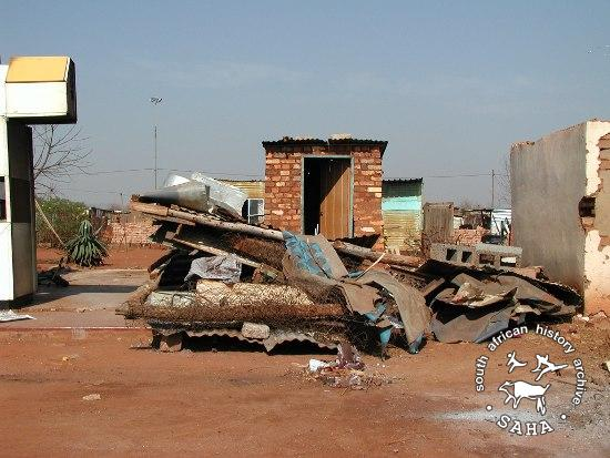 Eviction from shack - Thembalihle. SAHA APF Project.