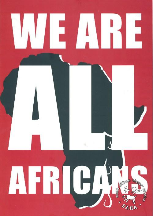 We are all Africans. Poster col AL2446_4979
