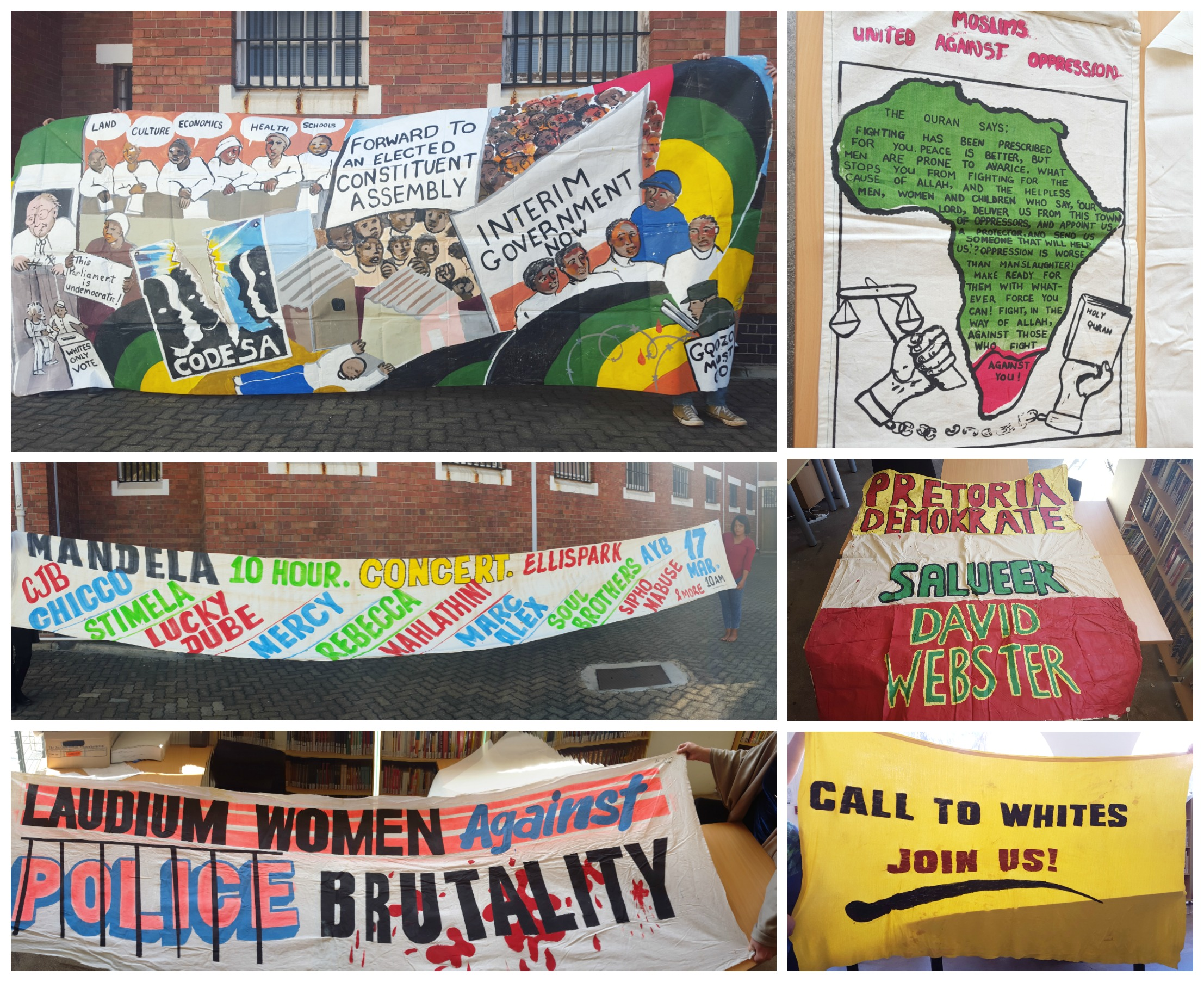 A selection of banners from the SAHA Ephemera collection