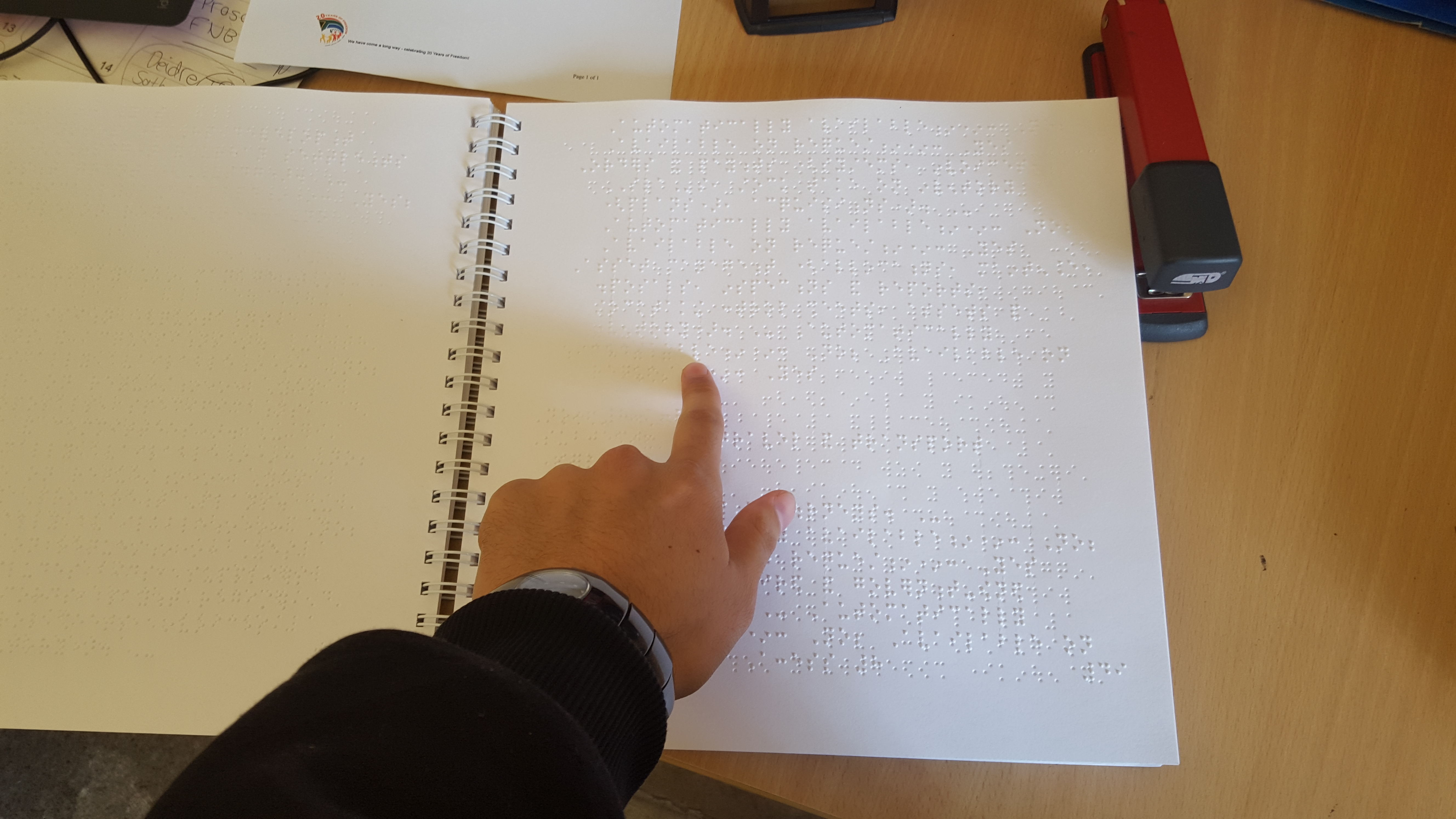 SAHA excited to receive its first ever Braille PAIA manual