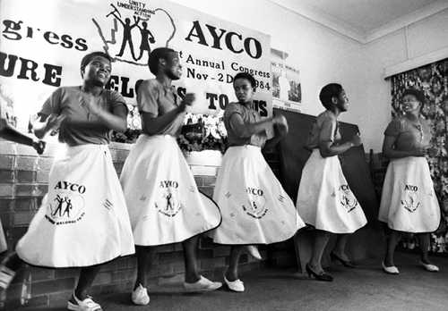 Alexander Youth Congress (AYCO) dancing at anti-apartheid conference (AL3274_B34)