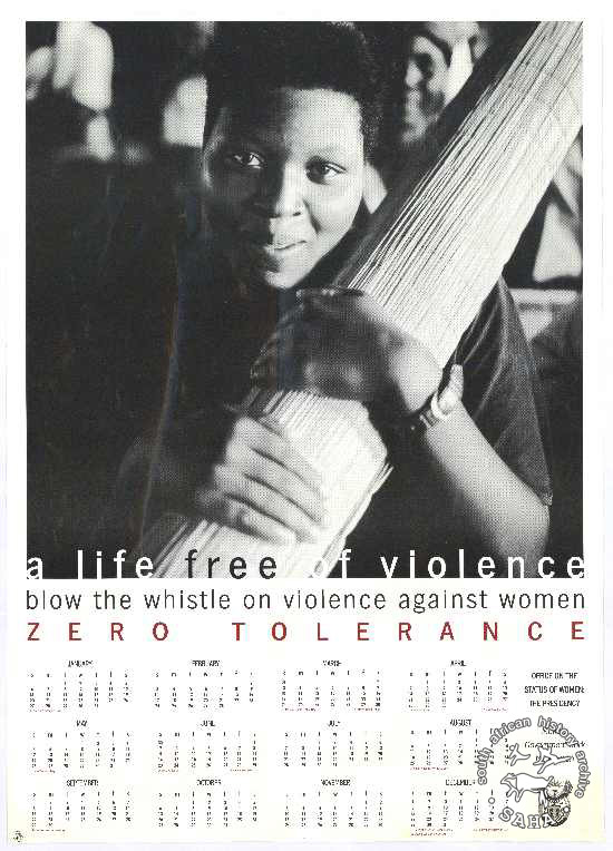 Offset litho poster, issued by the Office on the Status of Women, date unknown. Archived as SAHA collection AL2446_3505