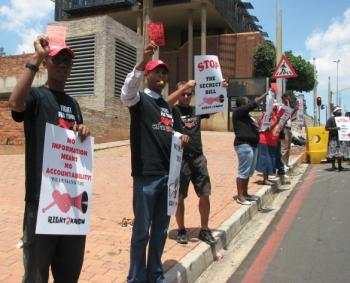 R2K activists protesting against the Secrecy Bill