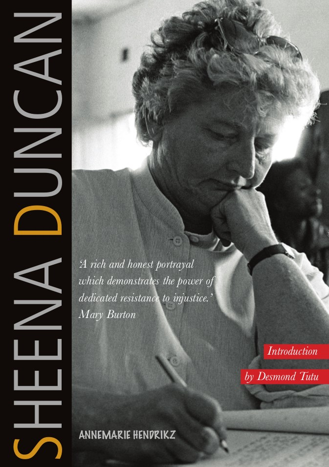 Cover of new Sheena Ducan biography by Annemarie Hendrikz