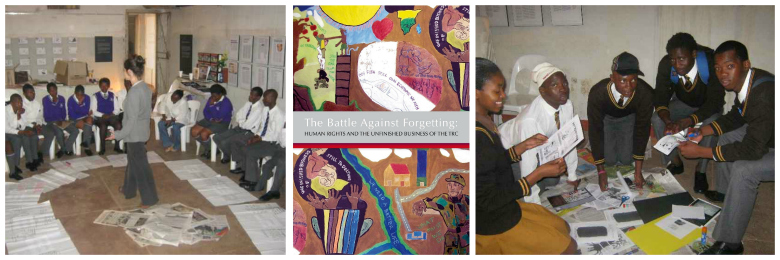 Collage of workshops on the TRC, using SAHA's