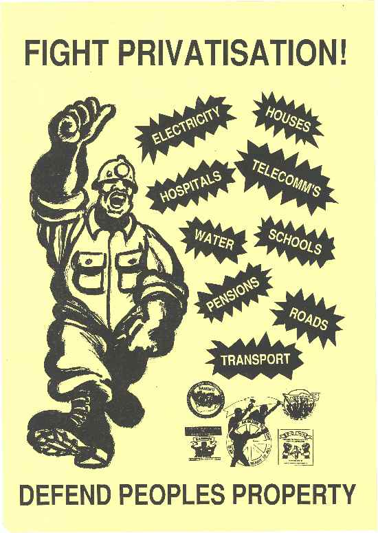 Poster - Fight privatisation