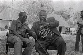 Mulungushi Rock; Oliver Tambo and Joshua Nkomo; UNIP conference, Zambia,1978.