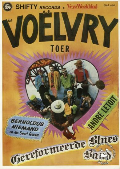Voelvry tour poster