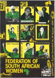 FEDERATION OF SOUTH AFRICAN WOMEN : Western Cape Region Launched on 29 August 1987  FEDERATION OF SOUTH AFRICAN WOMEN : Western Cape Region Launched on 29 August 1987