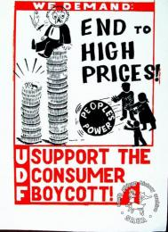 We demand: End to High Prices SUPPORT THE CONSUMER BOYCOTT AL2446_2577